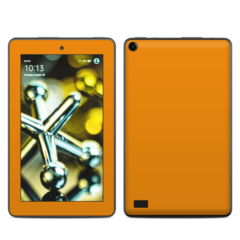 Amazon Fire 2015 Skin design of Orange, Yellow, Brown, Text, Amber, Font, Peach with orange colors