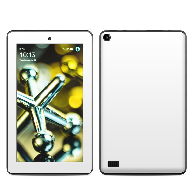 Amazon Fire 2015 Skin design of White, Black, Line with white colors