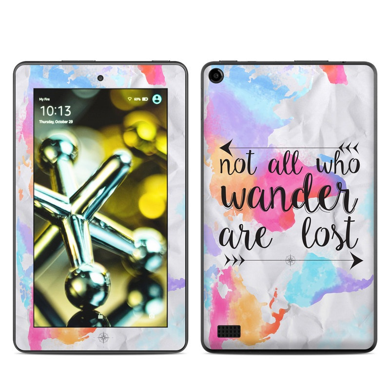 Amazon Fire 2015 Skin design of Font, Text, Calligraphy, Graphics with black, white, orange, pink, red, blue, purple, yellow colors