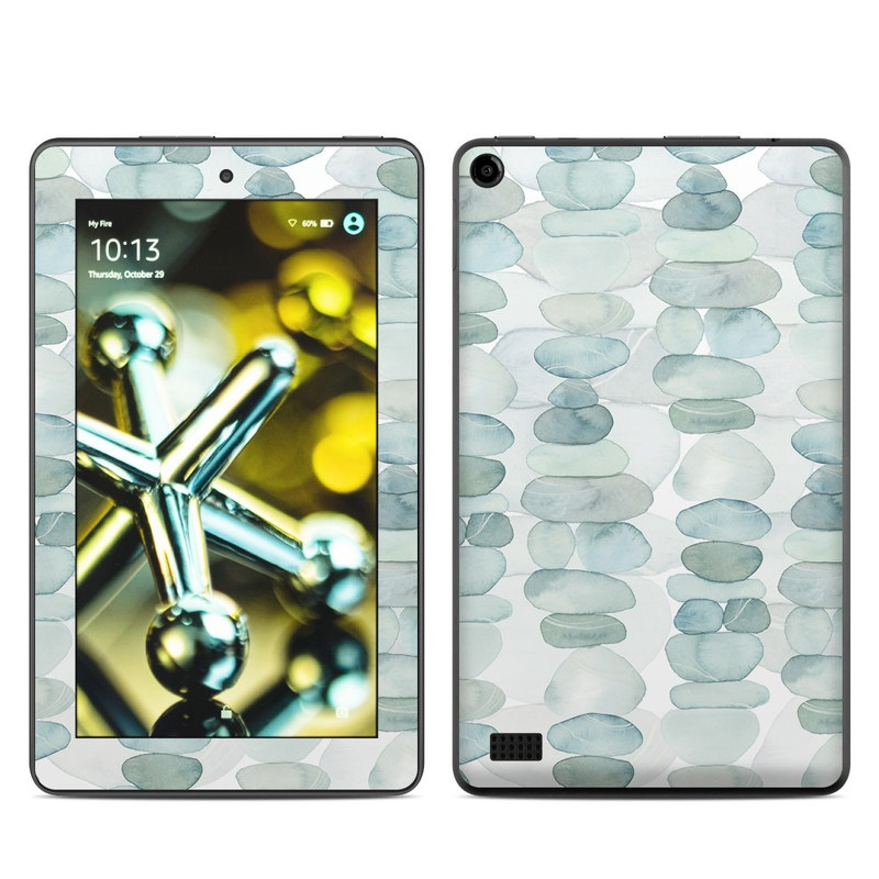 Amazon Fire 2015 Skin design of Aqua, Turquoise, Circle, Pattern, Transparent material, Glass with white, blue colors