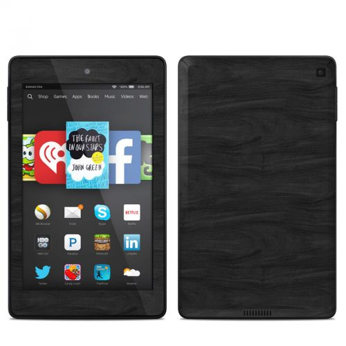 Black Woodgrain Amazon Kindle Fire HD 6 Skin
