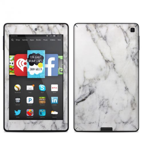 White Marble Amazon Kindle Fire HD 6 Skin