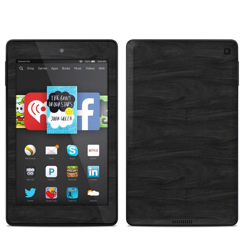 Amazon Kindle Fire HD 6 2014 Skin design of Black, Brown, Wood, Grey, Flooring, Floor, Laminate flooring, Wood flooring with black colors