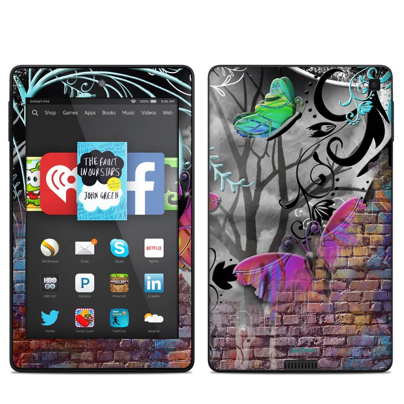 Butterfly Wall Amazon Kindle Fire HD 6 Skin