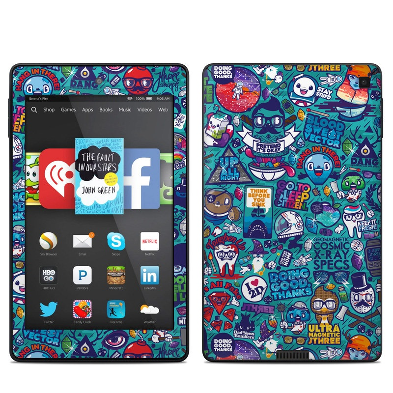 Cosmic Ray Amazon Kindle Fire HD 6 Skin