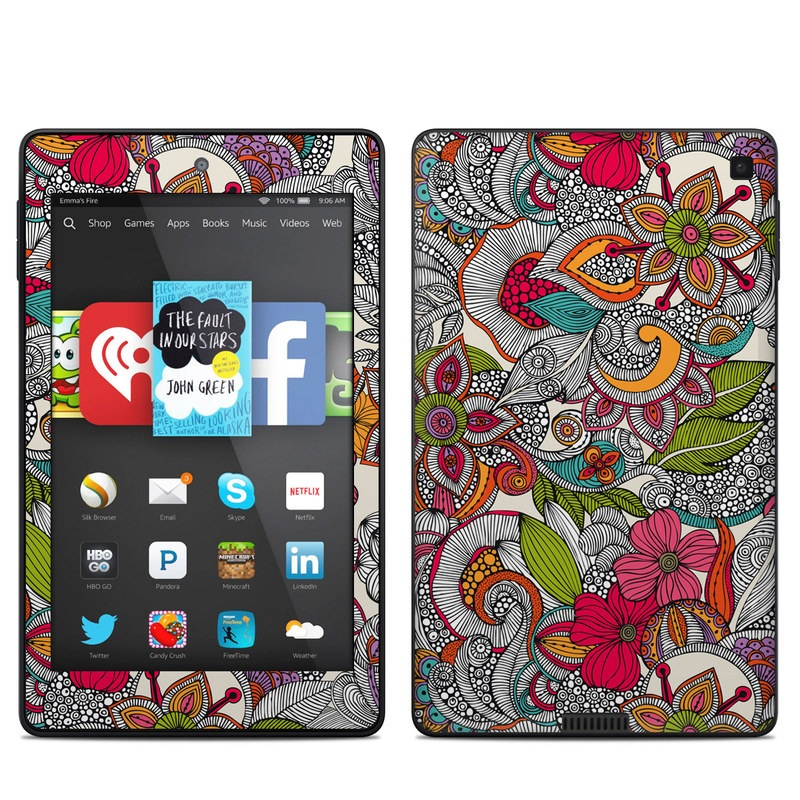 Doodles Color Amazon Kindle Fire HD 6 Skin
