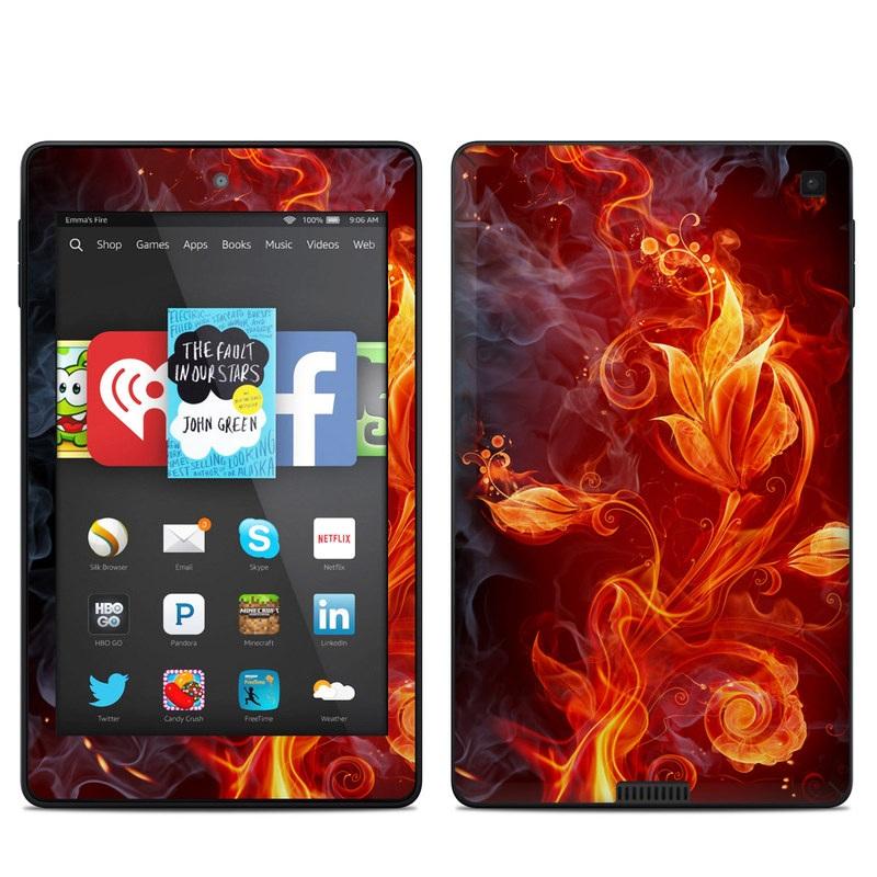 Flower Of Fire Amazon Kindle Fire HD 6 Skin
