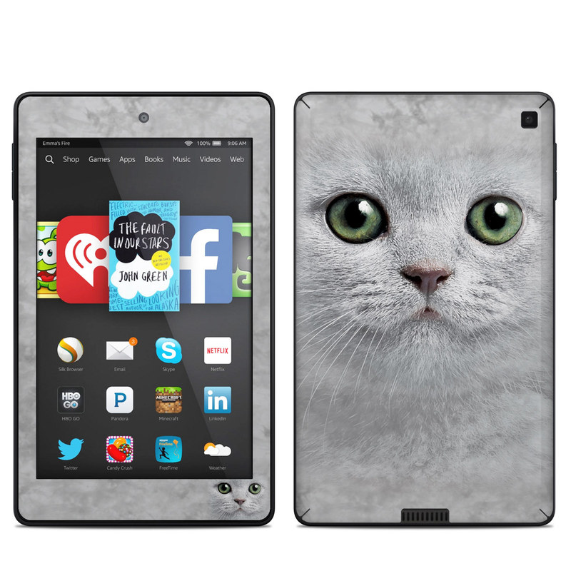 Grey Kitty Amazon Kindle Fire HD 6 Skin