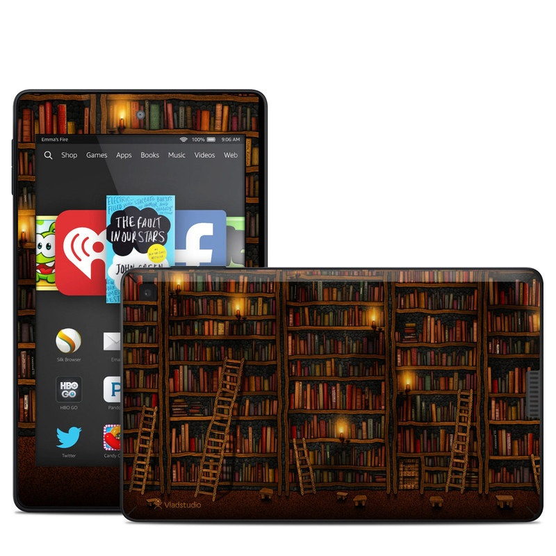 Library Amazon Kindle Fire HD 6 Skin