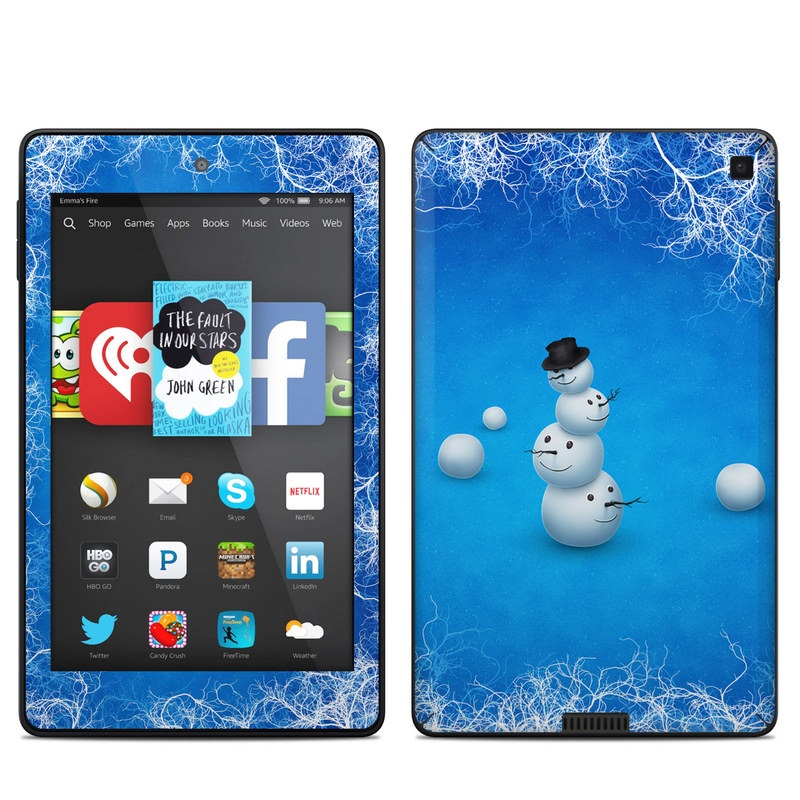 Merry Snowman Amazon Kindle Fire HD 6 Skin