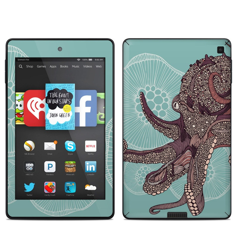 Octopus Bloom Amazon Kindle Fire HD 6 Skin