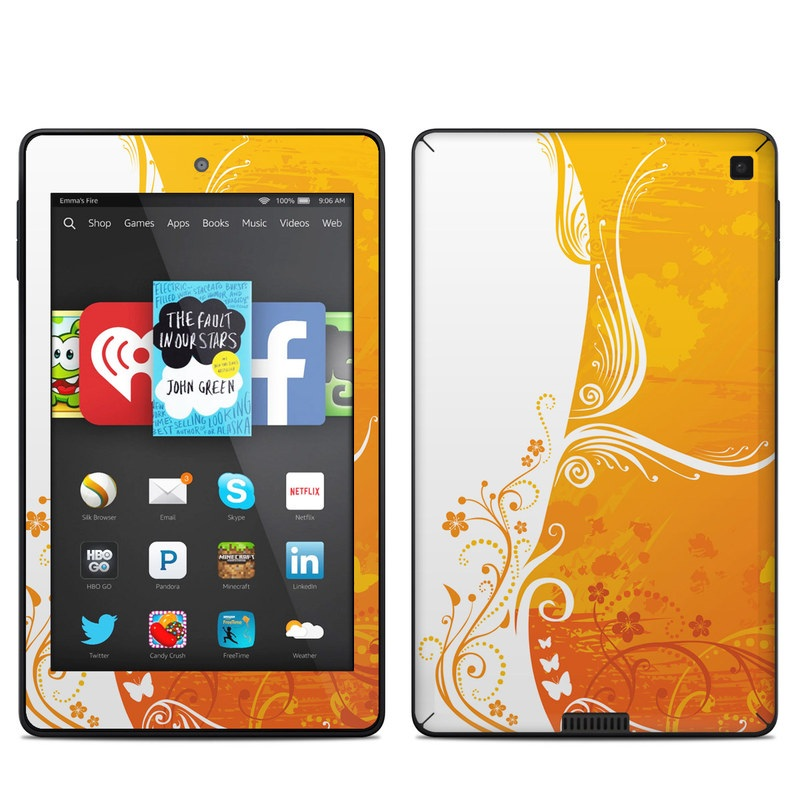 Orange Crush Amazon Kindle Fire HD 6 Skin