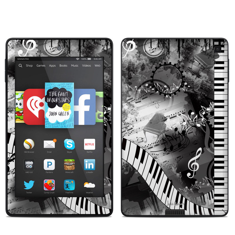 Piano Pizazz Amazon Kindle Fire HD 6 Skin