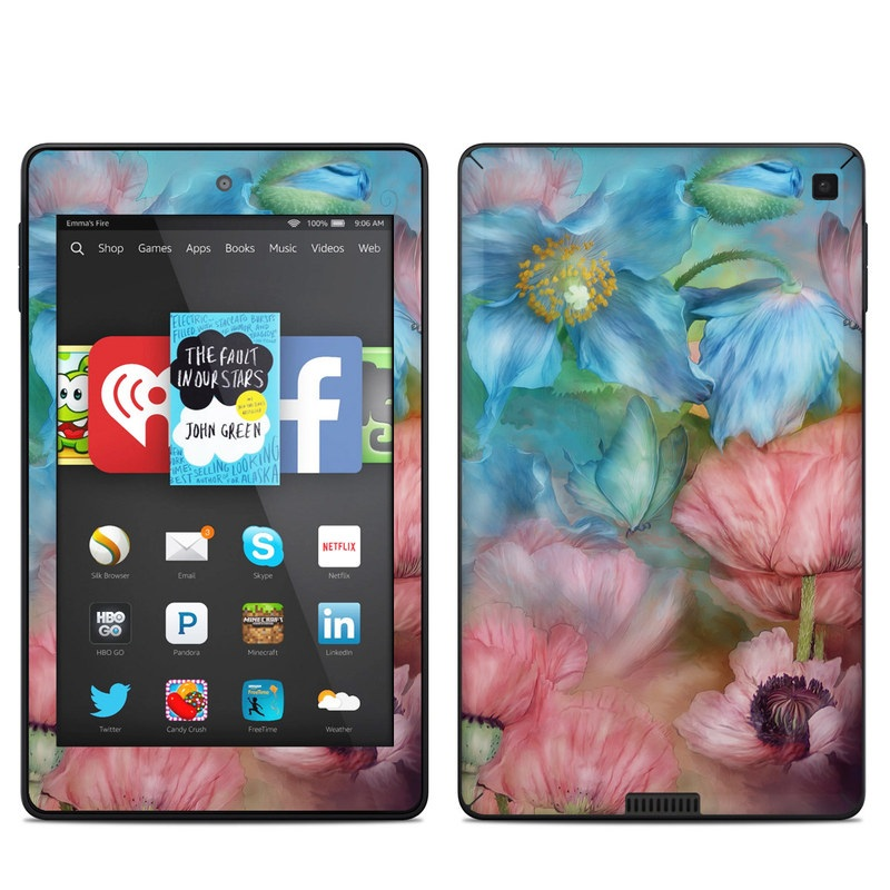 Poppy Garden Amazon Kindle Fire HD 6 Skin