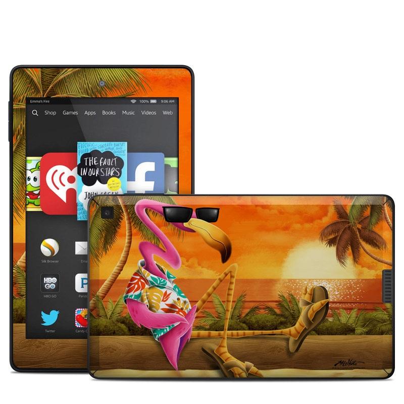 Sunset Flamingo Amazon Kindle Fire HD 6 Skin