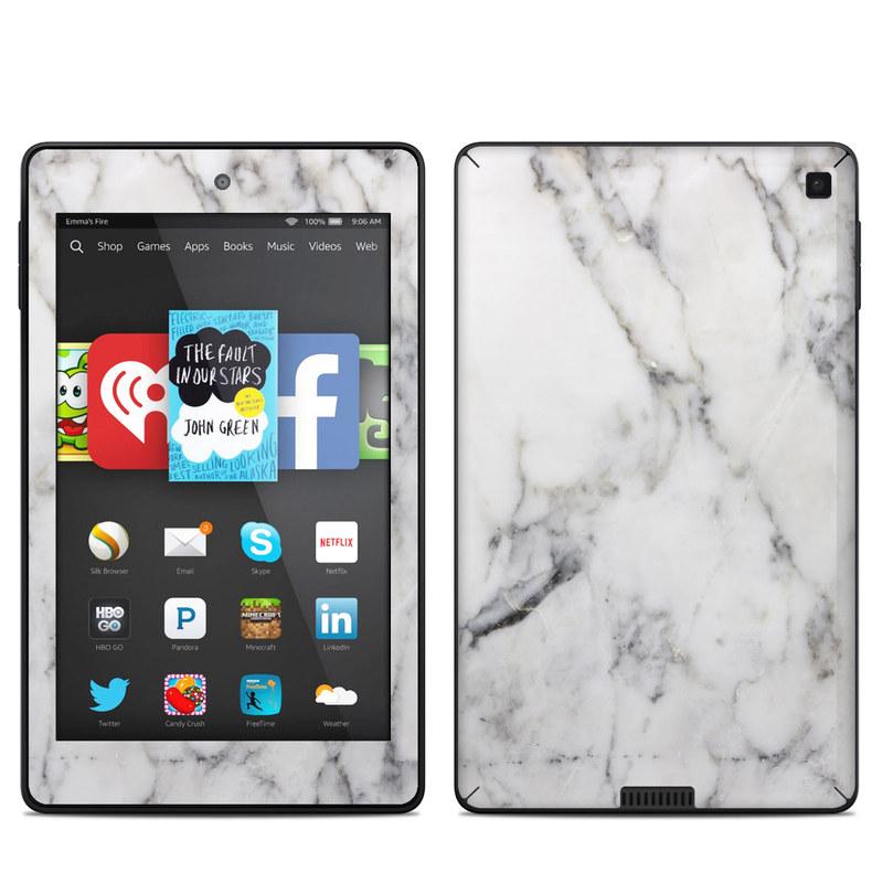 White Marble Amazon Kindle Fire HD 6 Skin