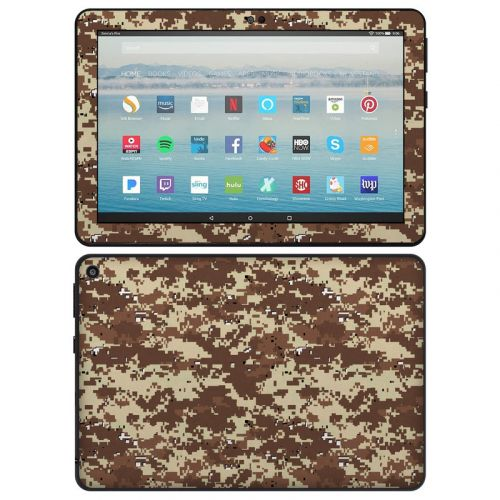 Digital Desert Camo Amazon Fire HD 8 2020 Skin
