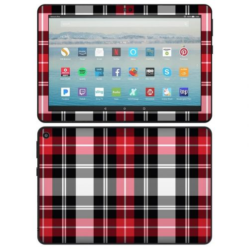Red Plaid Amazon Fire HD 8 2020 Skin