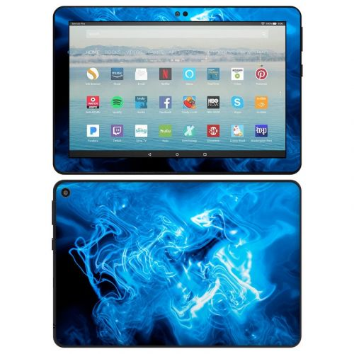Blue Quantum Waves Amazon Fire HD 8 2020 Skin
