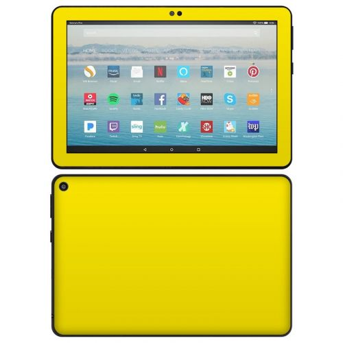 Solid State Yellow Amazon Fire HD 8 2020 Skin