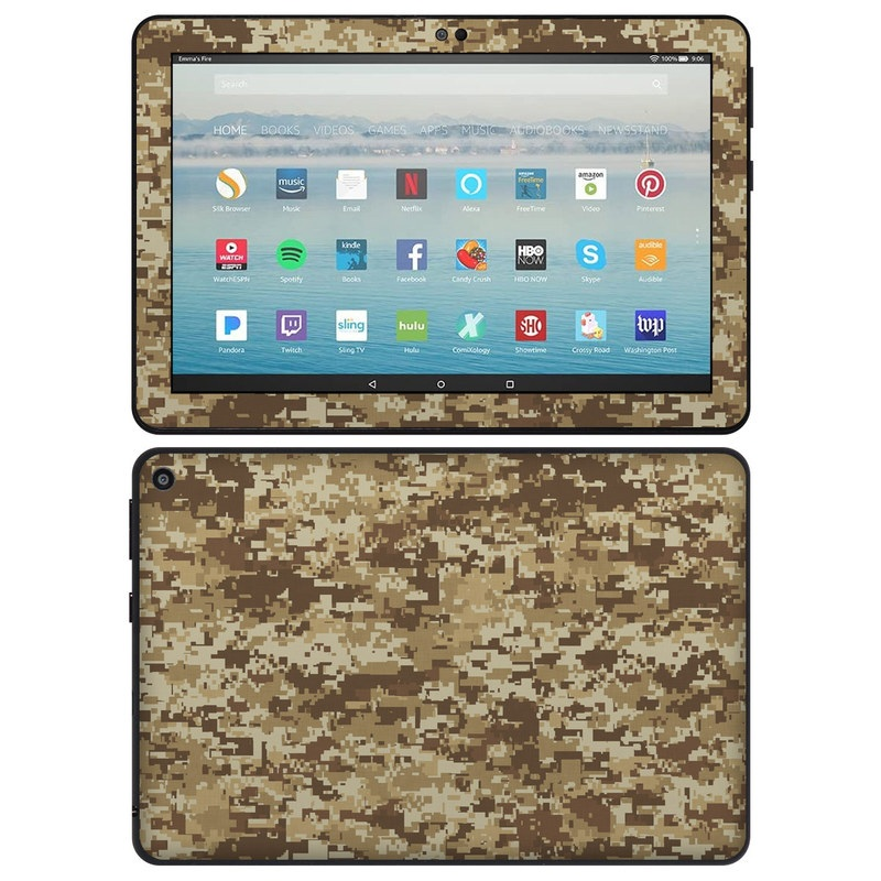Amazon Fire HD 8 2020 Skin design of Military camouflage, Brown, Pattern, Camouflage, Wall, Beige, Design, Textile, Uniform, Flooring with brown colors