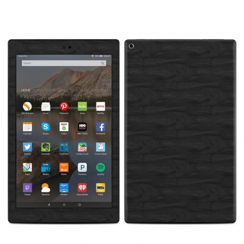 Black Woodgrain Amazon Fire HD 10 (2017) Skin