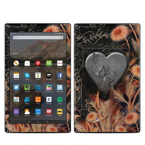 Black Lace Flower Amazon Fire HD 10 (2017) Skin