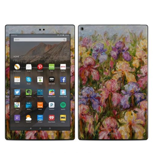 Field Of Irises Amazon Fire HD 10 (2017) Skin