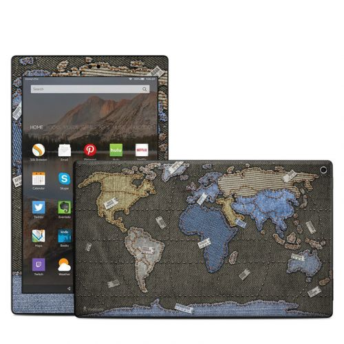 Jean Map Amazon Fire HD 10 (2017) Skin