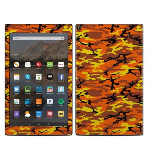 Orange Camo Amazon Fire HD 10 (2017) Skin
