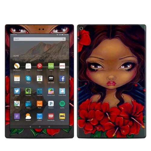 Red Hibiscus Fairy Amazon Fire HD 10 (2017) Skin
