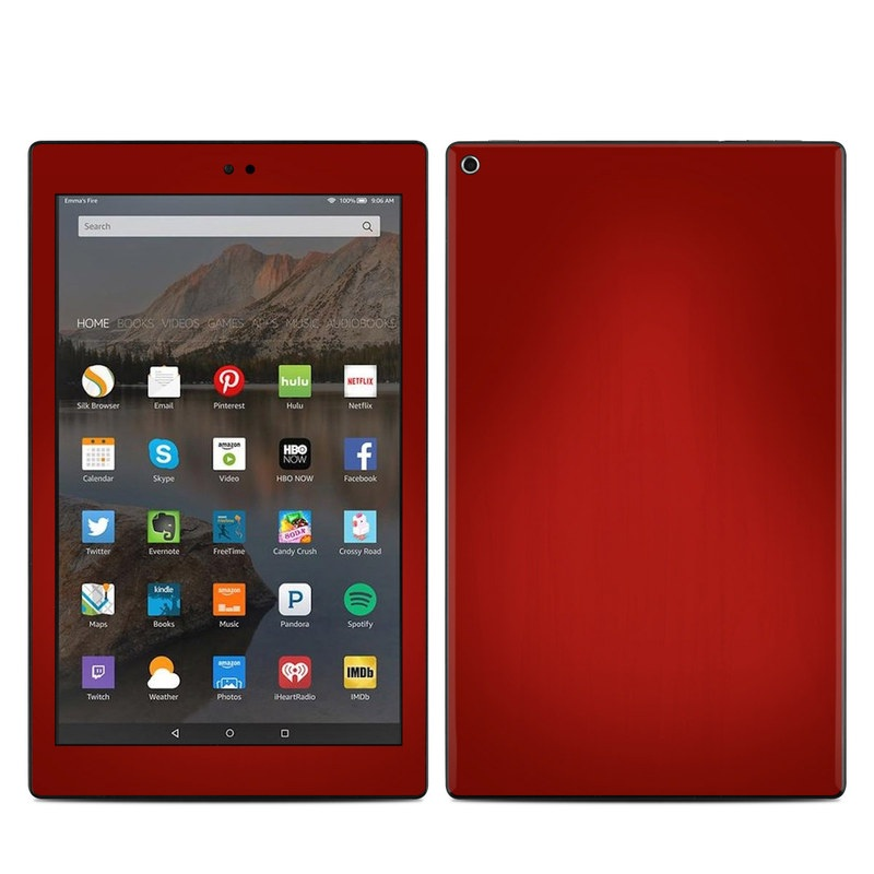 Red Burst Amazon Fire HD 10 (2017) Skin