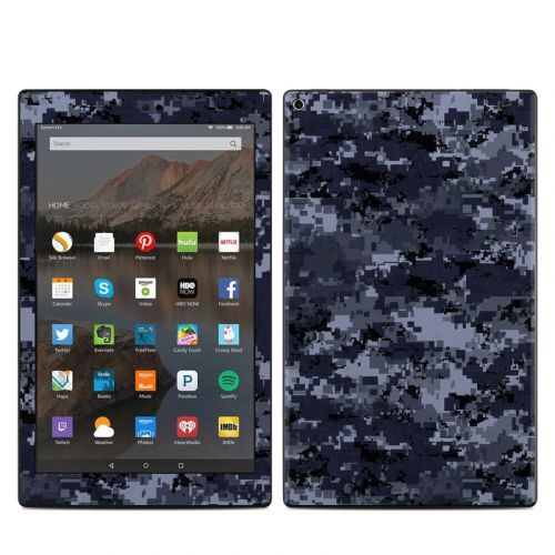 Digital Navy Camo Amazon Fire HD 10 2019 Skin