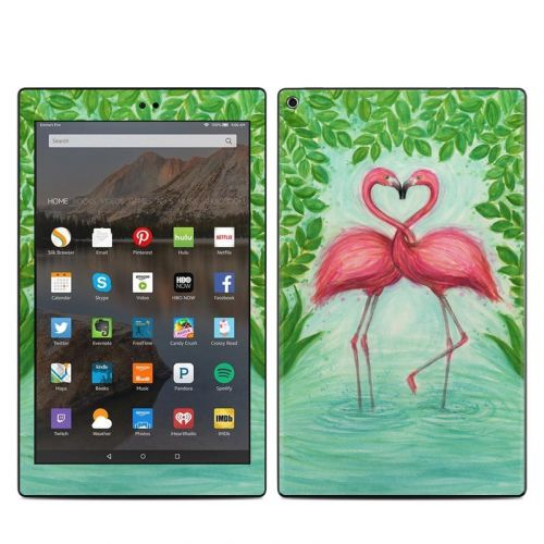 Flamingo Love Amazon Fire HD 10 2019 Skin