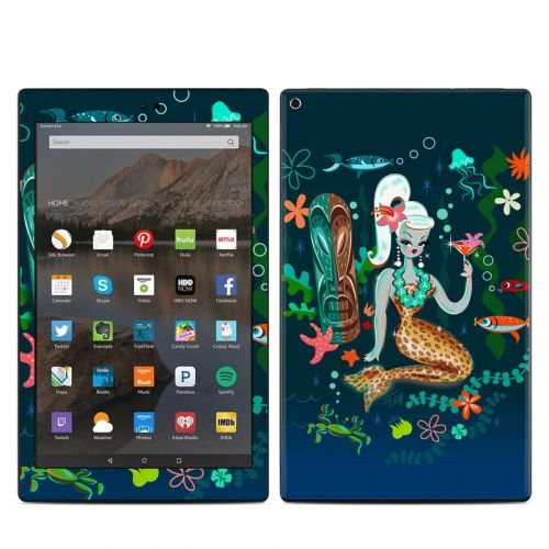 Martini Mermaid Amazon Fire HD 10 2019 Skin