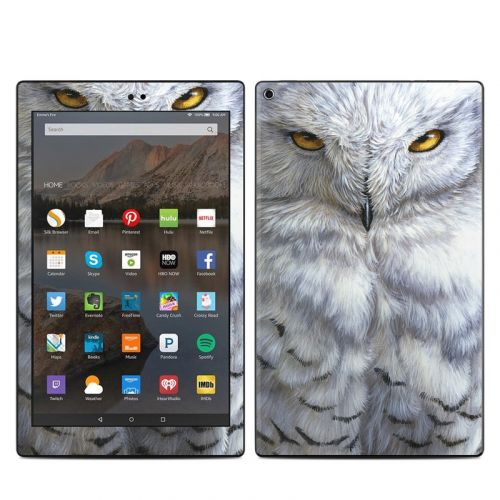 Snowy Owl Amazon Fire HD 10 2019 Skin