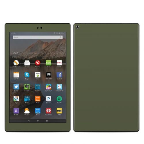 Solid State Olive Drab Amazon Fire HD 10 2019 Skin