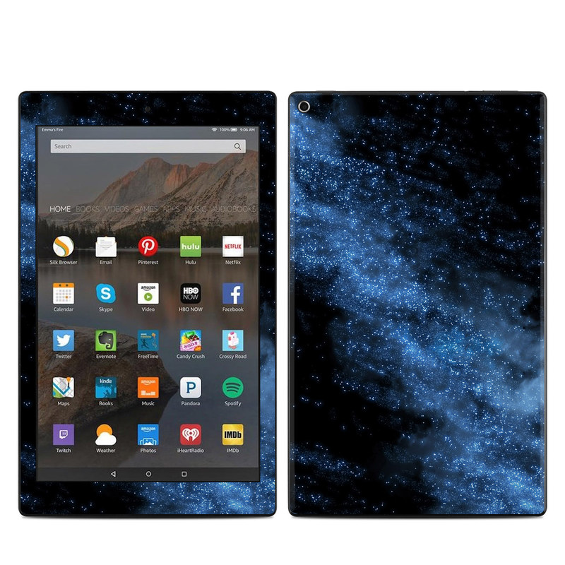 Amazon Fire HD 10 2019 Skin design of Sky, Atmosphere, Black, Blue, Outer space, Atmospheric phenomenon, Astronomical object, Darkness, Universe, Space with black, blue colors