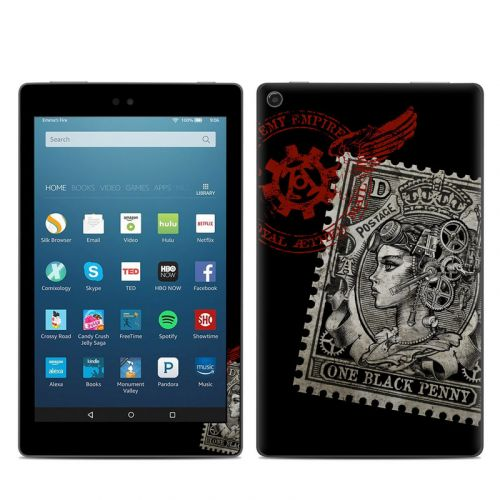 Black Penny Amazon Fire HD 8 (2017) Skin