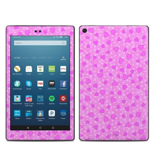 Candy Hearts Amazon Fire HD 8 (2017) Skin