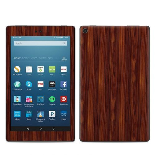 Dark Rosewood Amazon Fire HD 8 (2017) Skin