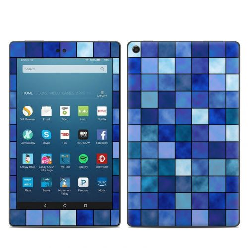 Blue Mosaic Amazon Fire HD 8 (2017) Skin
