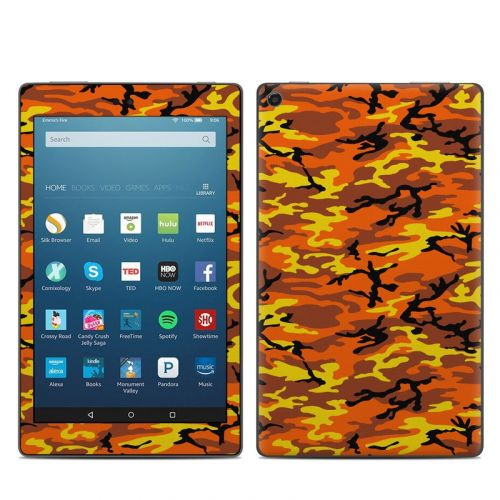 Orange Camo Amazon Fire HD 8 (2017) Skin