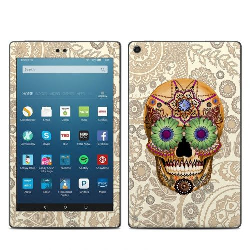 Sugar Skull Bone Amazon Fire HD 8 (2017) Skin