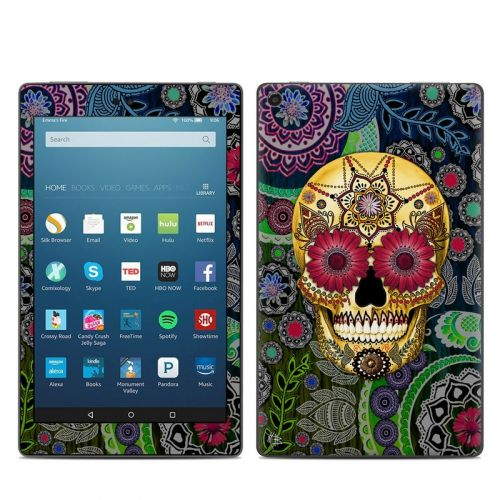 Sugar Skull Paisley Amazon Fire HD 8 (2017) Skin