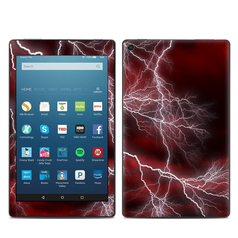 Apocalypse Red Amazon Fire HD 8 (2017) Skin