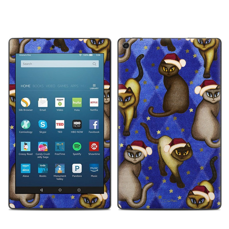 Amazon Fire HD 8 2017 Skin design of Cartoon, Illustration, Animated cartoon, Animation, Ferret, Fawn, Rodent, Art with blue, black, gray, white, red, green colors