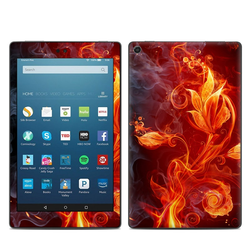 Amazon Fire HD 8 2017 Skin design of Flame, Fire, Heat, Red, Orange, Fractal art, Graphic design, Geological phenomenon, Design, Organism with black, red, orange colors