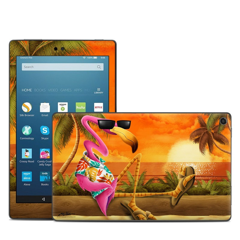 Sunset Flamingo Amazon Fire HD 8 (2017) Skin