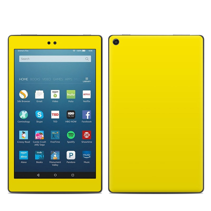 Solid State Yellow Amazon Fire HD 8 (2017) Skin
